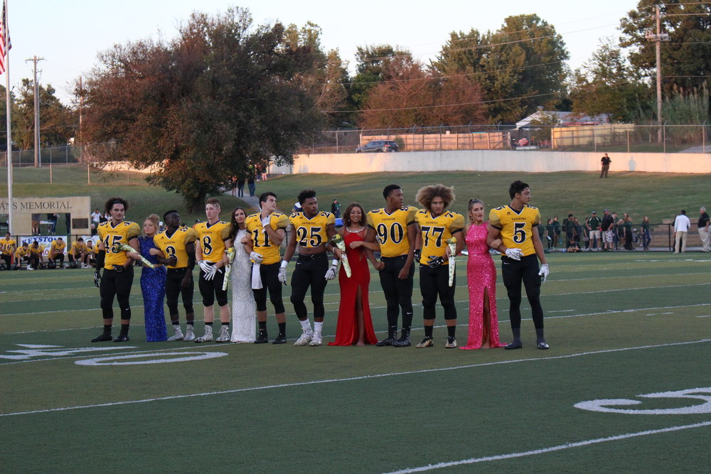Members of the Sand Springs Homecoming Court before the game. (Photo: Morgan Miller).