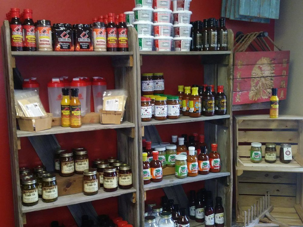 A display of OkieSpice products. (Photo: Sam Shook).