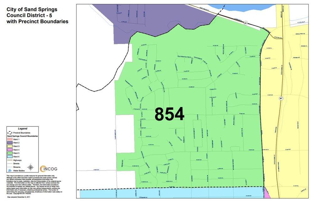 Ward 5 boundaries.