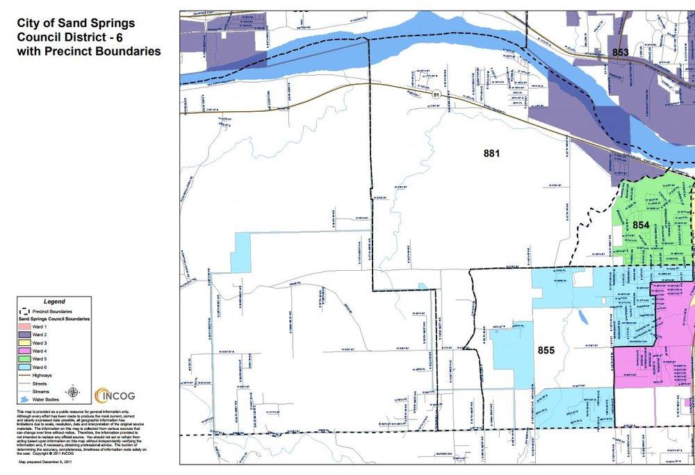 Ward 6 boundaries.
