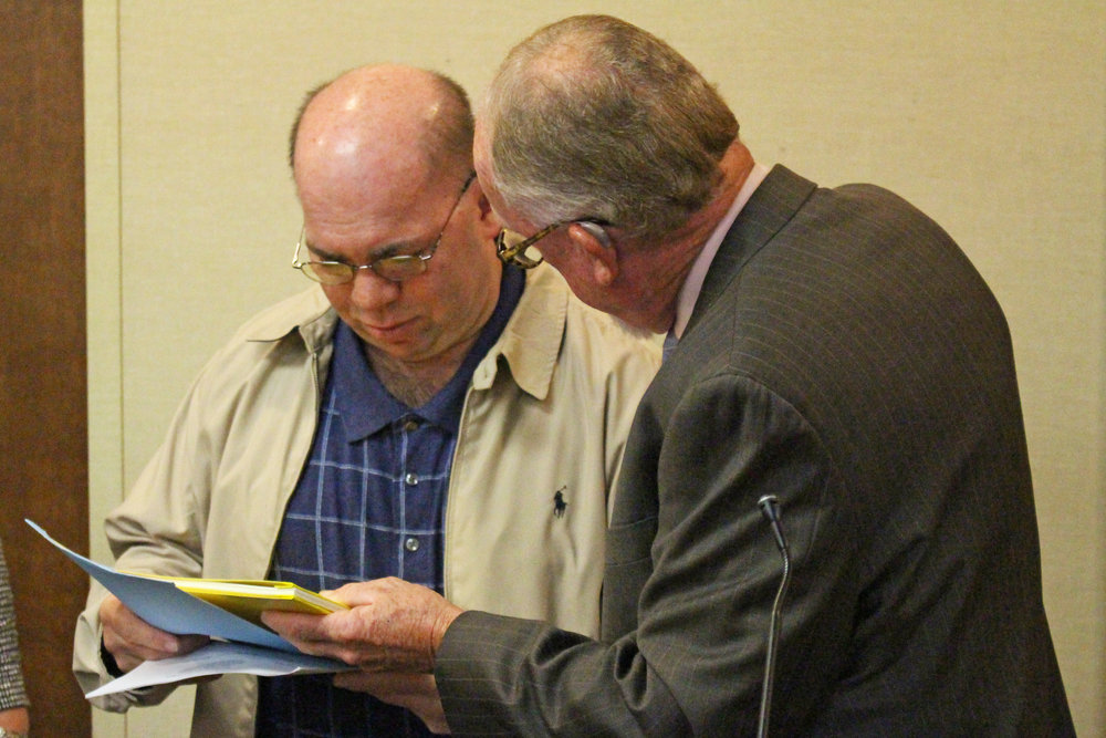 Mayor Mike Burdge presents Steve Scott with a Mayoral Proclamation. (Photo: Scott Emigh).