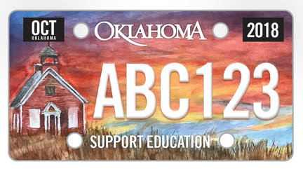 2018 License to Educate License Plate Contest Winner, designed by Latta High School's Sarah Skaggs. Proceeds of the specialty plate will benefit teacher recruitment.