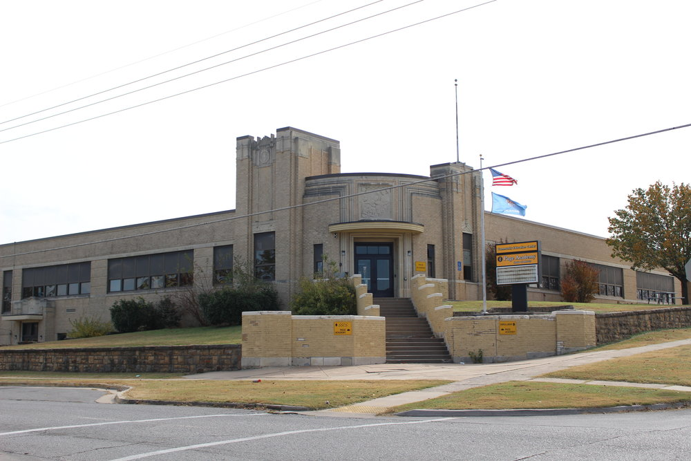 page academy and SSPS Enrollment Center - downtown sand springs public schools 104 west 4th street