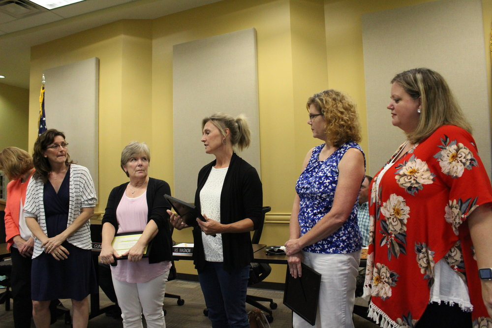 Aug. 07, 2017. Cindy Dunn, Andrea Campfield, Sandy Charlson, and Kendra Roulet receive Pacesetter Awards. Heather Miller, not present, also received one.