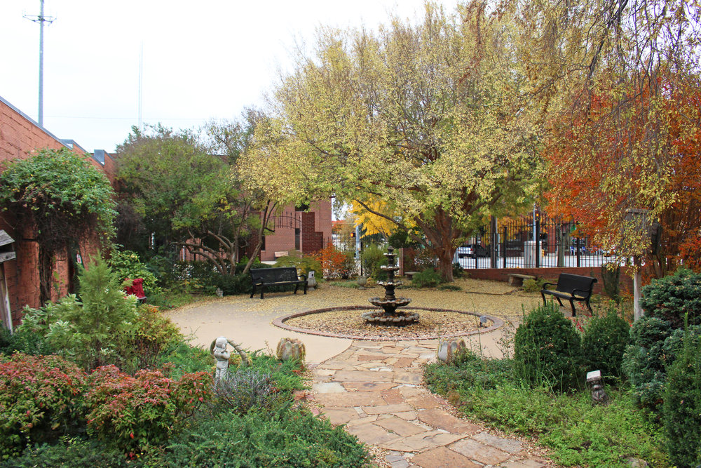 Inez Kirk City Garden Park - downtown 101 East broadway street