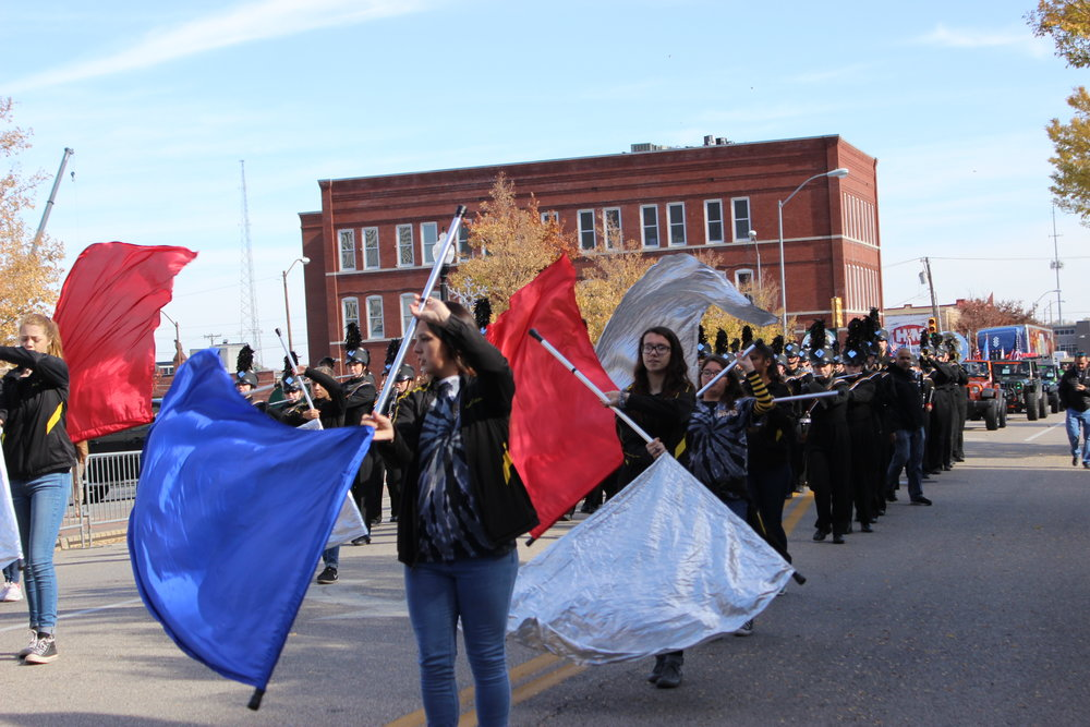 The CPHS 2017-2018 Marching Band performs in the Tulsa Veteran's Day Parade 171111 (Tristia Watson, Courtesy) 004.JPG
