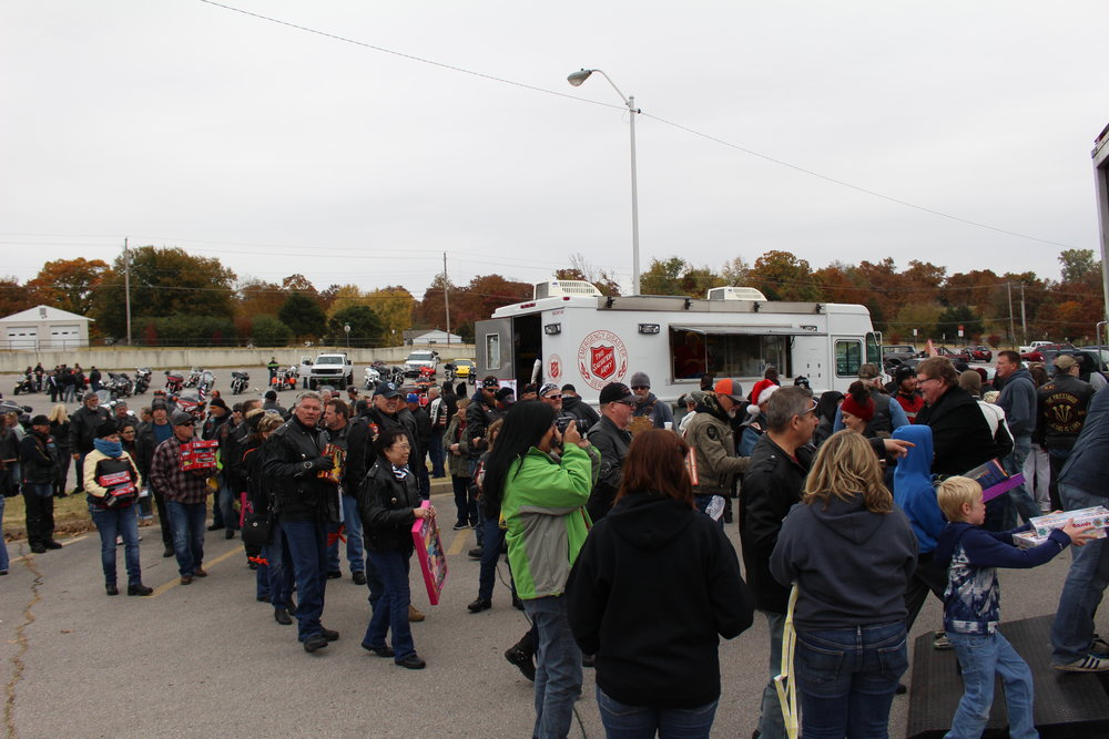More than 200 Sandites turned out Saturday to honor two young car crash victims by donating toys to the Salvation Army. (Photo: Scott Emigh).    Click here to view the full photo gallery.