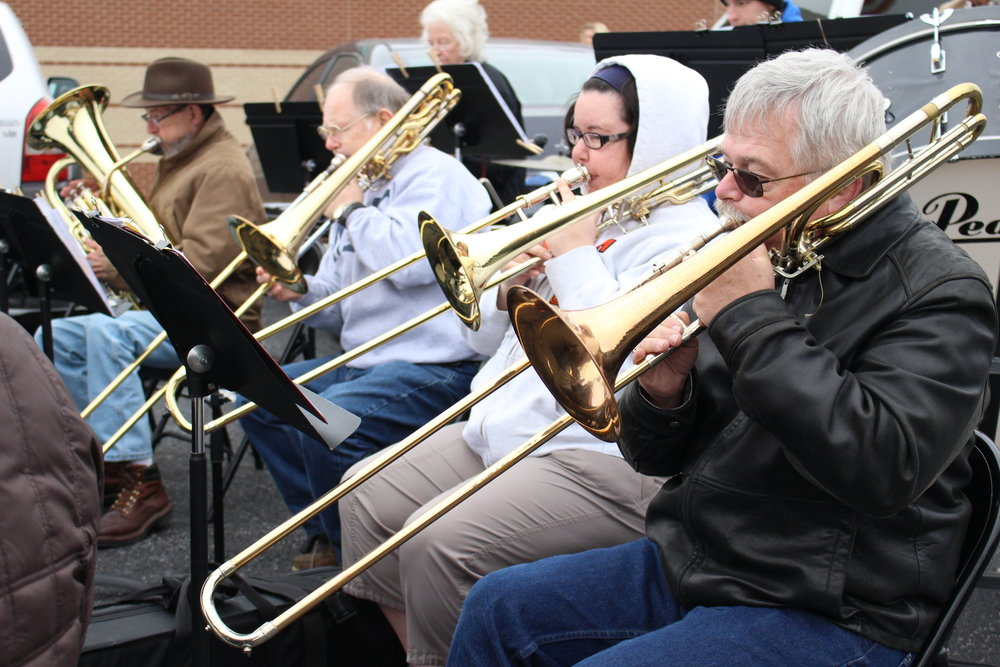 Members of the Sand Springs Community Band perform at the 2 Angels Toy Run in honor of Veterans Day.