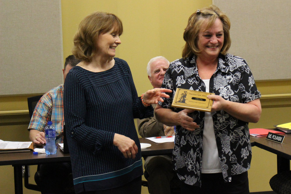 Feb. 06, 2017. Debbie O'Neill is presented with the Pacesetter Award.