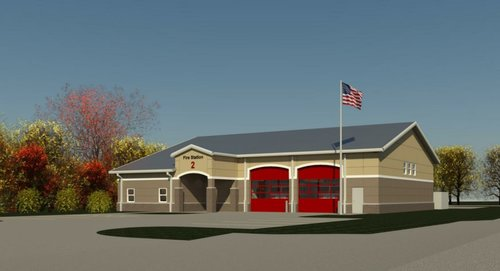 Conceptual rendering for the new Fire Station No. 2 to be built in Prattville.