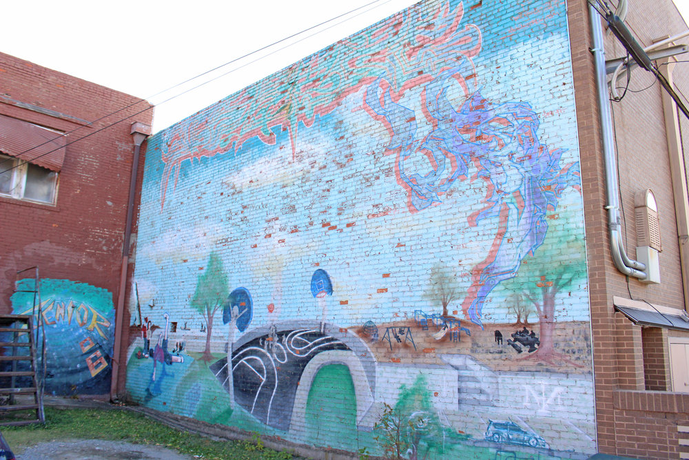 Charles Page High School Senior Class of 2006 Mural - downtown 200 North Main Street (back alley)