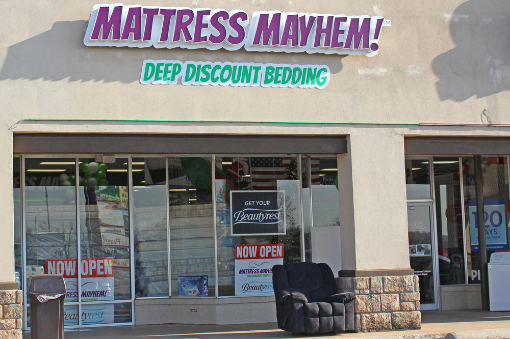 mattress mayhem - the shops at adams road 532 Plaza Court, suite A