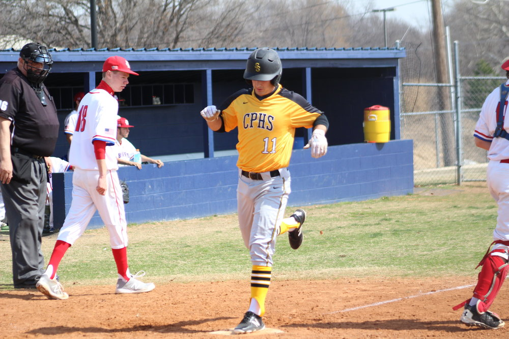 Braden Askew got the win on the mound and hit a home run in an 8-6 victory at Broken Arrow. (Photo: Scott Emigh).