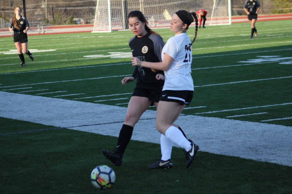 Brynlee Slankard scored her first goal of the season in a 1-0 district victory against Shawnee.