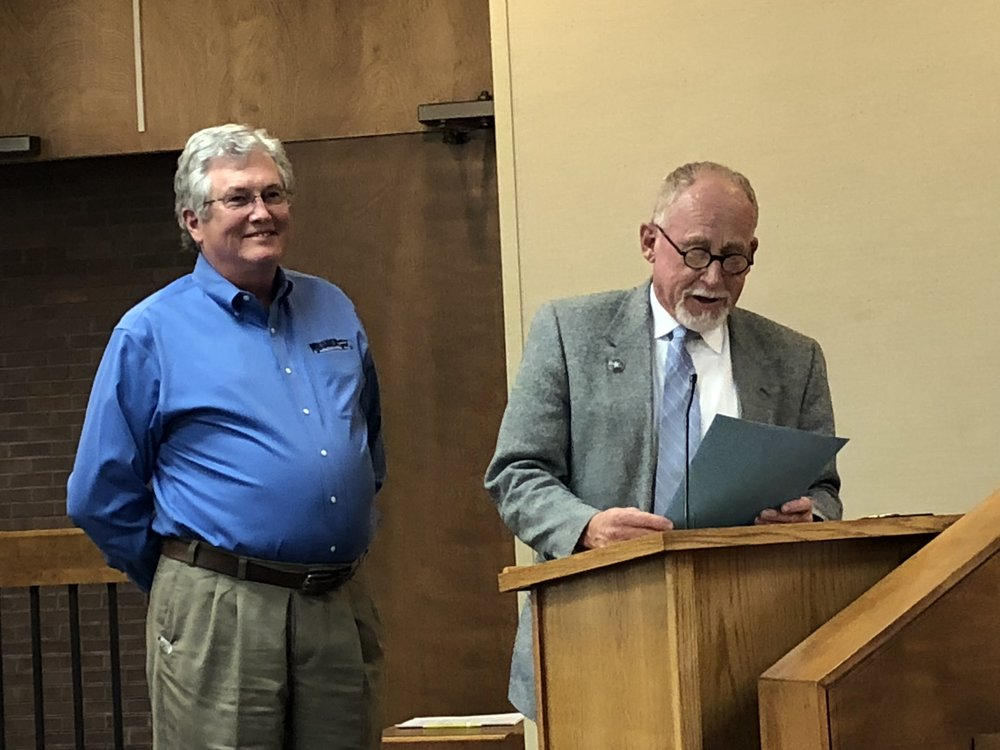"William ""Tom"" Meshek was recognized with a Mayoral Proclamation for his fifteen years of volunteer service on the Sand Springs Development Authority."