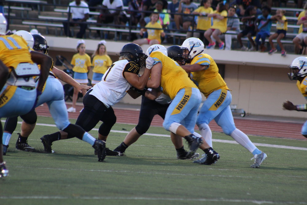 The last time the Sandites visited Putnam City Stadium they thumped Putnam West 28-14. (Photo: Morgan Miller).