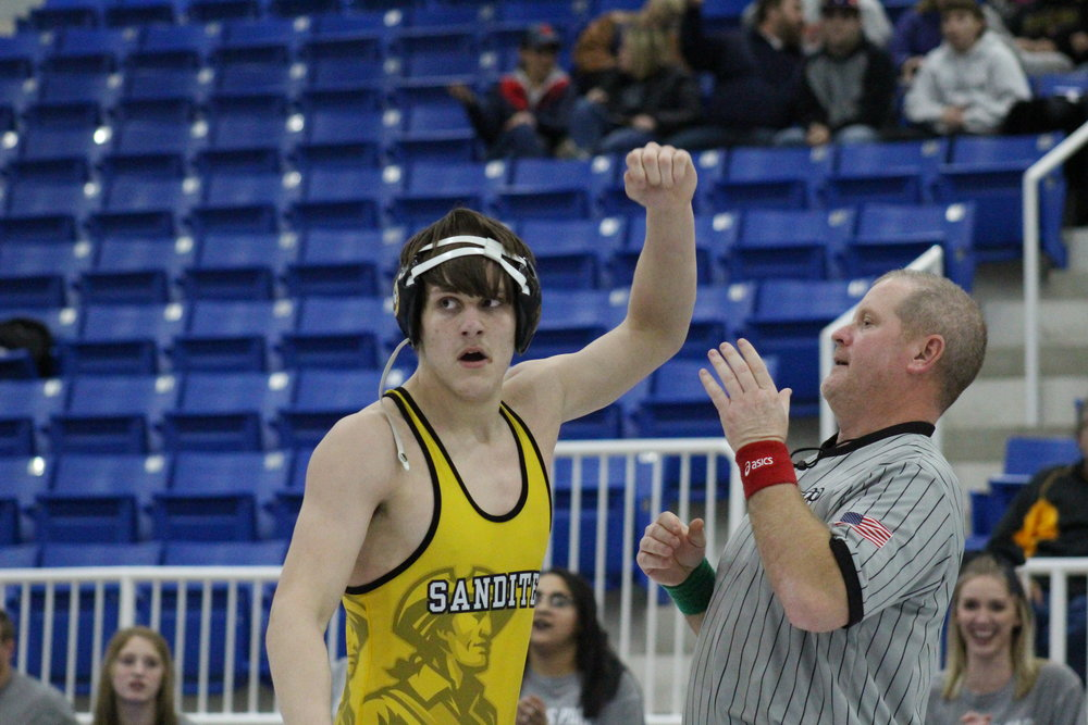 Chris Kirby became the second Sandite of the season to win a tournament title.