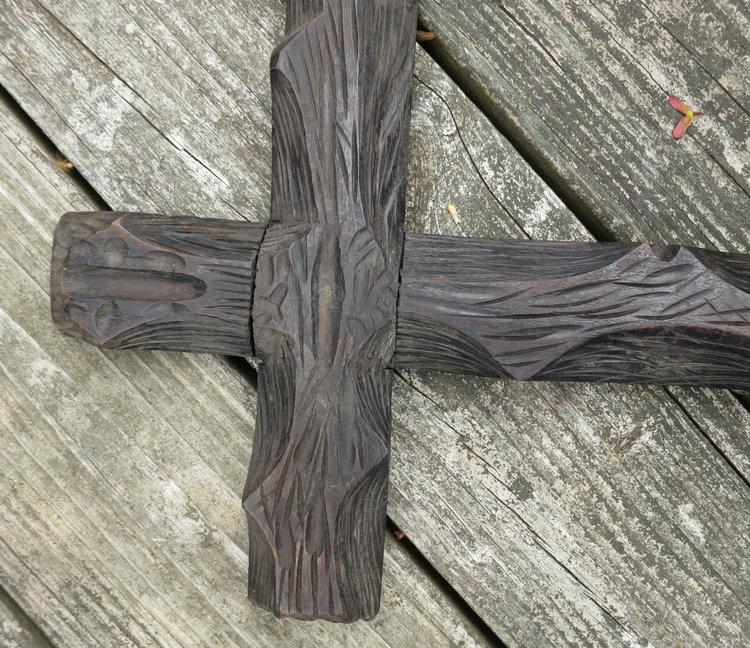 c1900 Oustanding Pair of Large Bark Carved Adirondack Folk Frames<br ...