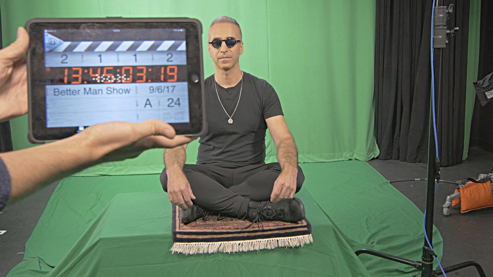 Mindful Dan - MT shoot (Dan & movie clapper).jpg