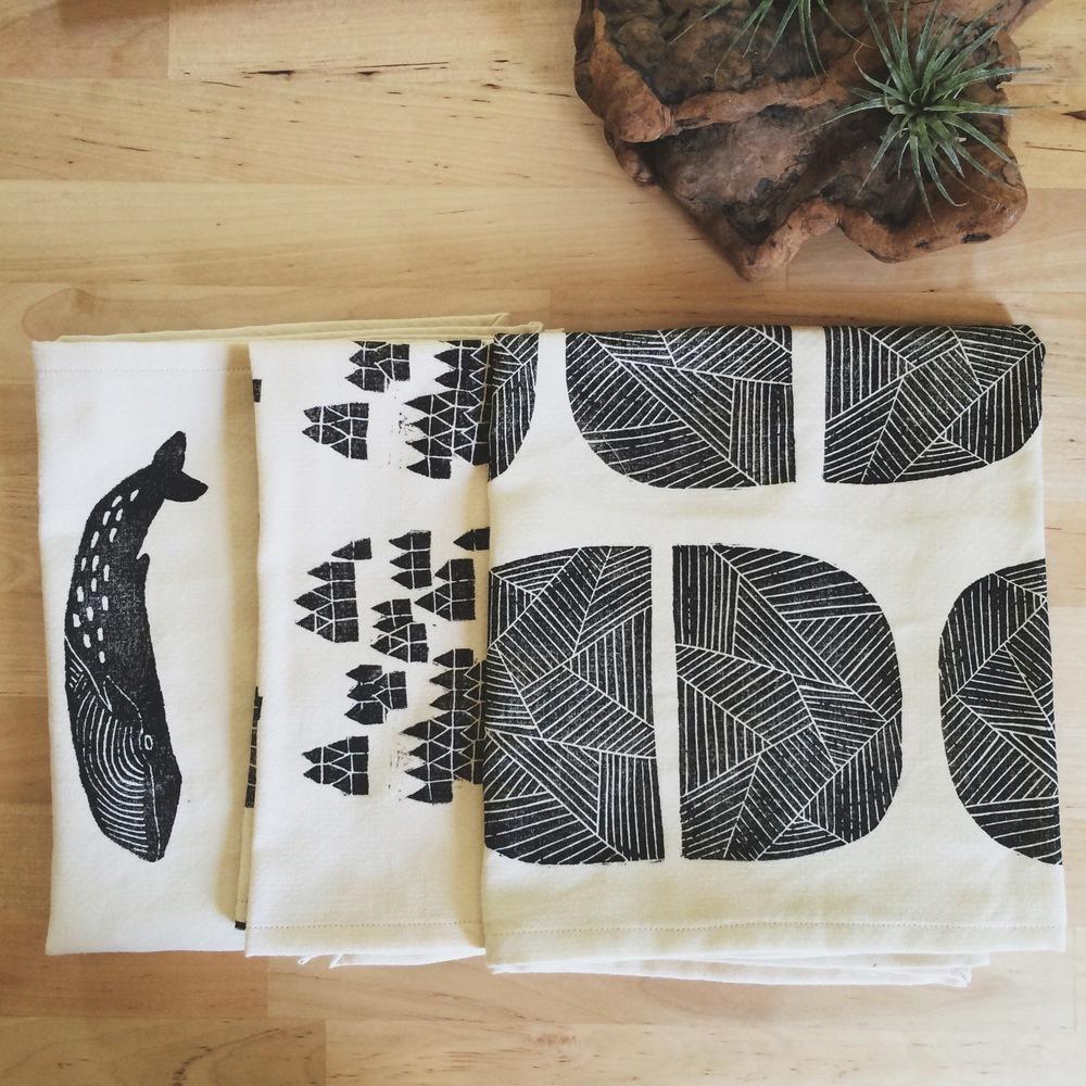Block Printed Tea Towels, Sarah Golden