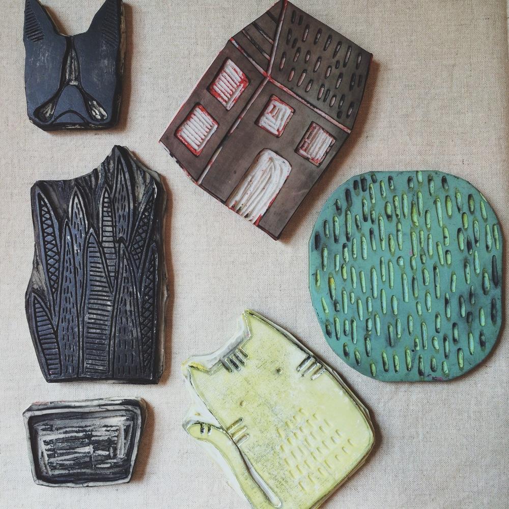 Carved Printing Blocks, Sarah Golden