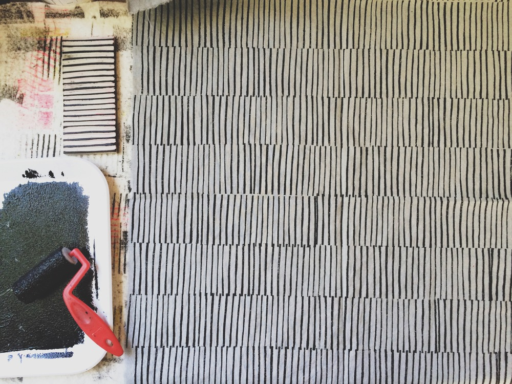 Lines, Block Print, Sarah Golden