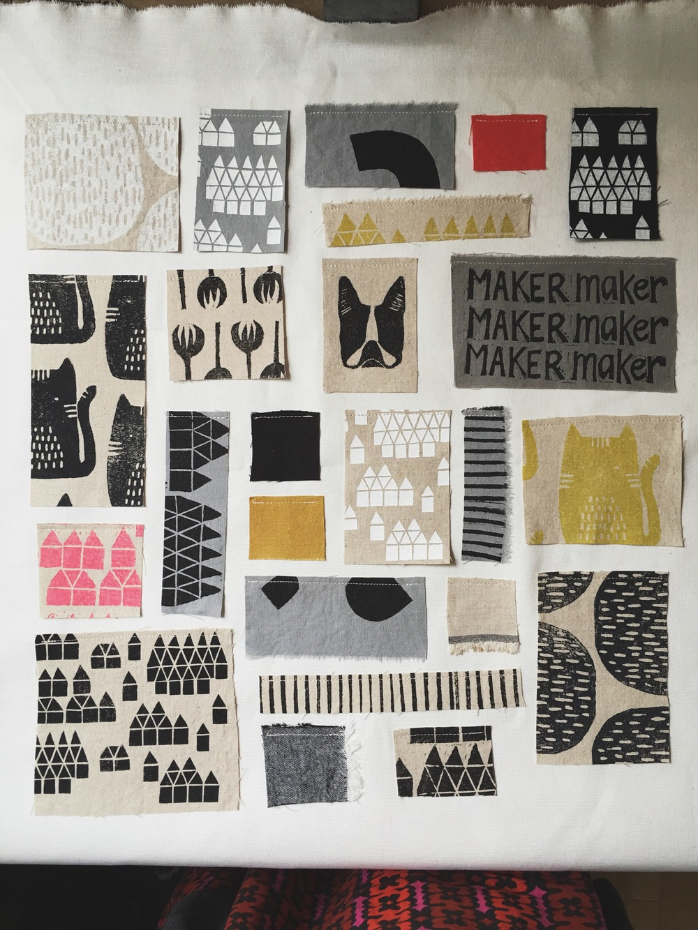 Block print mood board, Sarah Golden