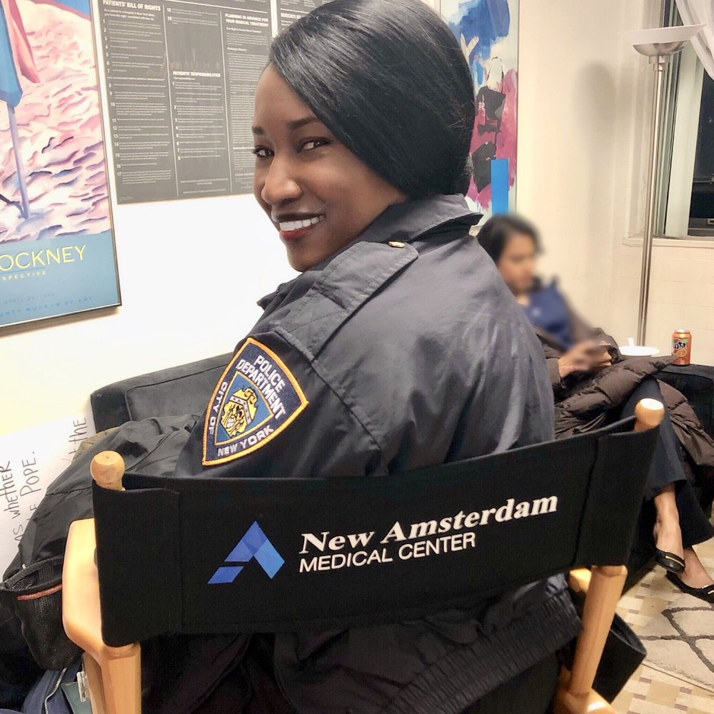 "On set of NBC's ""New Amsterdam""! Catch me this season playing a NYPD OFFICER! (Co-Star)"