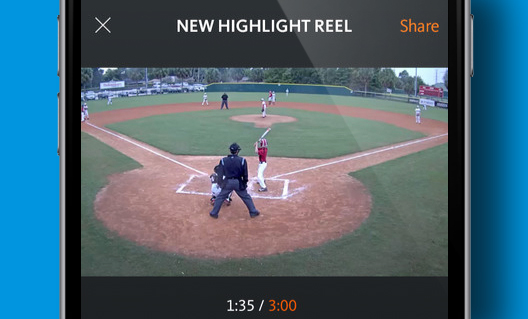 Create and share a highlight reel  of your favorite moments from the game, tournament, or season for recruiters or just for fun. We'll save and organize all of your highlights by date, time and tag for quick and easy access.