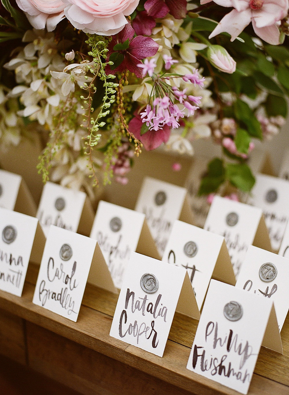 SNIPPET AND INK DIY WAX SEAL ESCORT CARDS   ESCORT CARDS