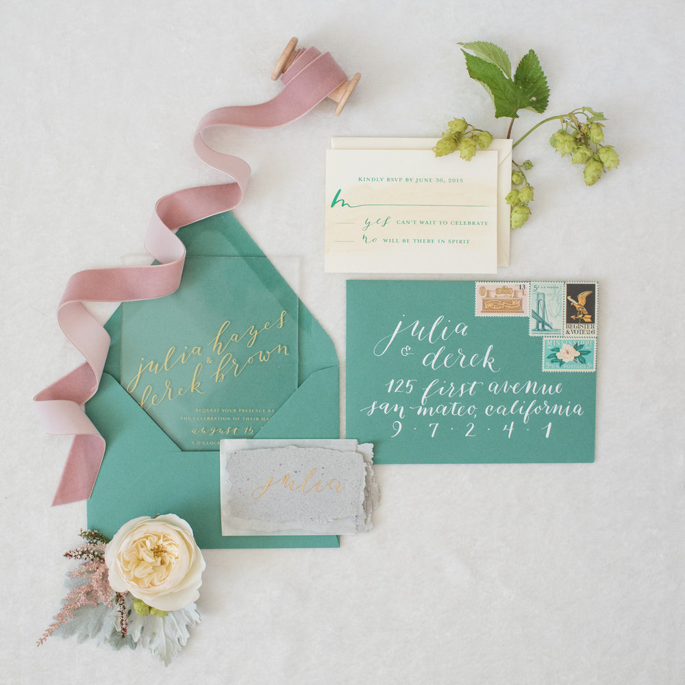 SAND ROCK FARM STYLED SHOOT   INVITATION SUITE, PLACE CARDS, MENUS, TABLE NUMBERS