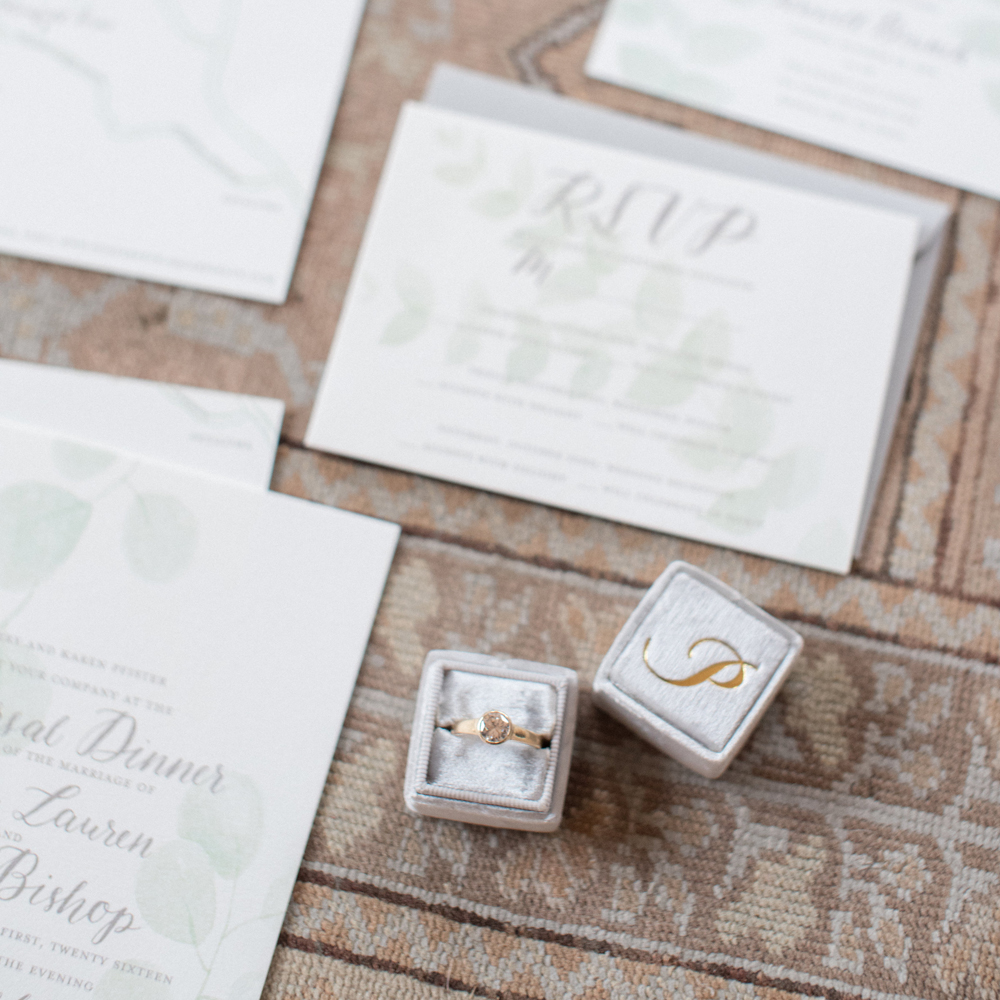 JESSICA & DAVID'S WEDDING   INVITATION SUITE, ESCORT CARDS, WELCOME SIGN, BAR MENU SIGN, DINNER MENU SIGN
