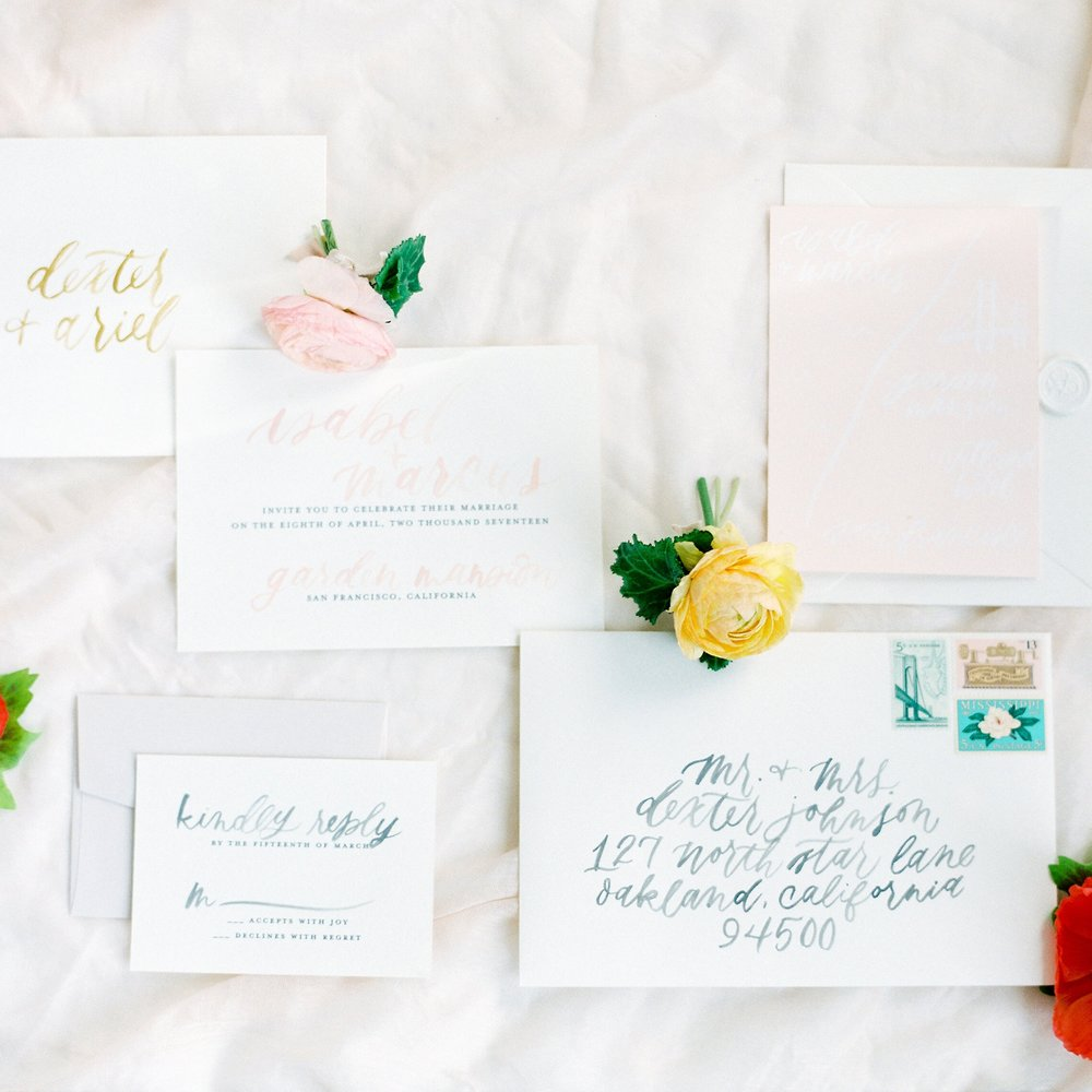 VO FLORALS STYLED SHOOT   INVITATION SUITE, CUSTOM MAP, NAME TAGS, MENU PLACE CARDS