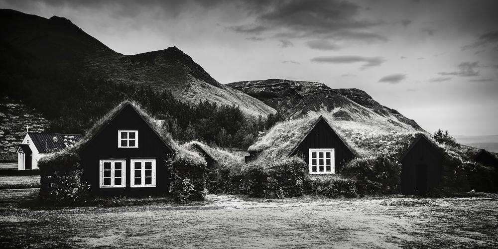 Skogar Farm, Iceland. Created with Silver Efex Pro (C) Michael Smyth 2016