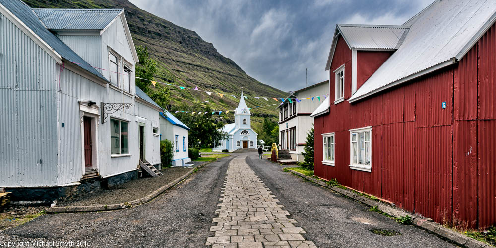 Old town, Seydisfjordur Iceland.  This image was originally posted last year, but has now been updated with our new processing techniques that add back the 3rd dimension to the image.  See our workshops schedule for the upcoming workshops on the 25th March and 27th May 2017.
