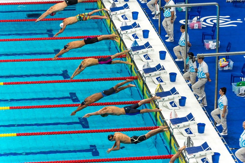 A bit of trial and error yielded some results at the World Swimming Champoinships.