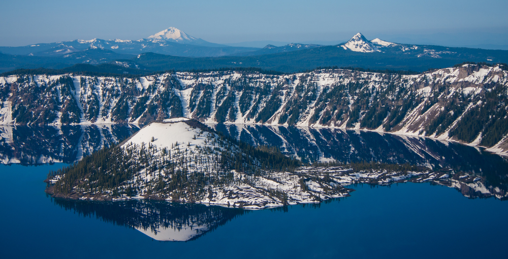 Wizard Island in Crater lake, Oregon