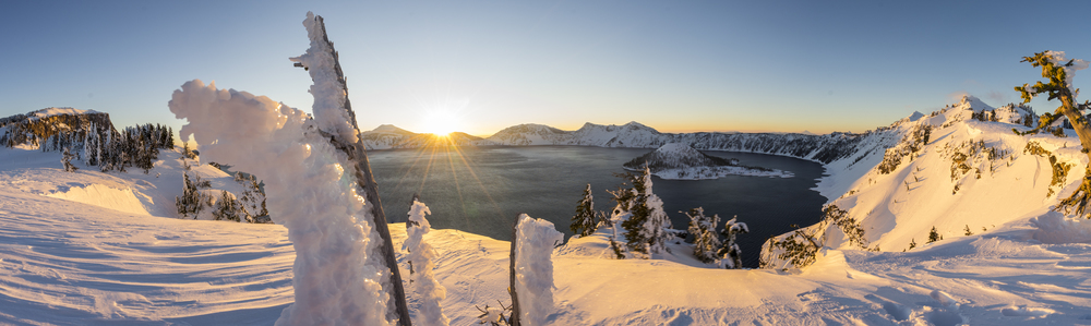 Sunrise at Crater Lake, Oregon 2016.