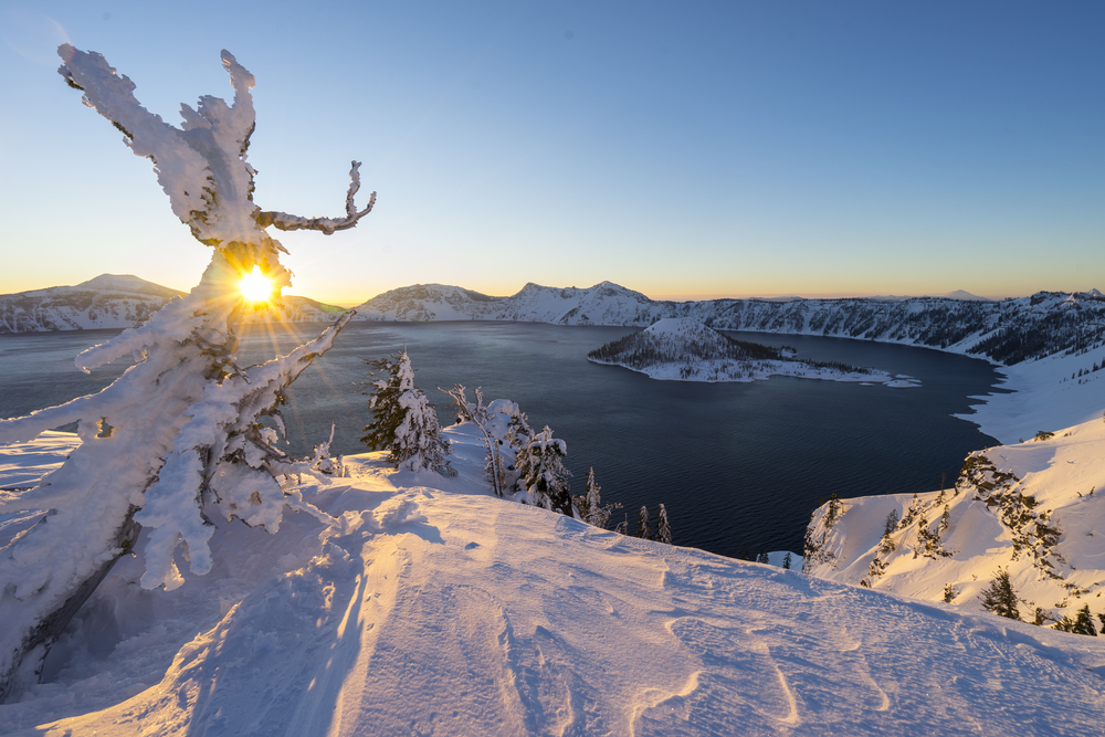 Sunrise at Crater Lake, Oregon 2016,