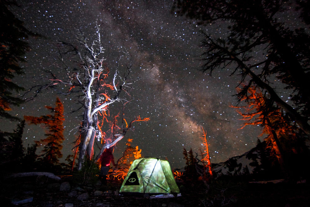 Camping in the Three Sisters Wilderness.