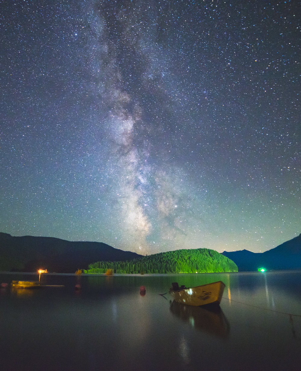 Detroit Lake under the Milky Way, Oregon