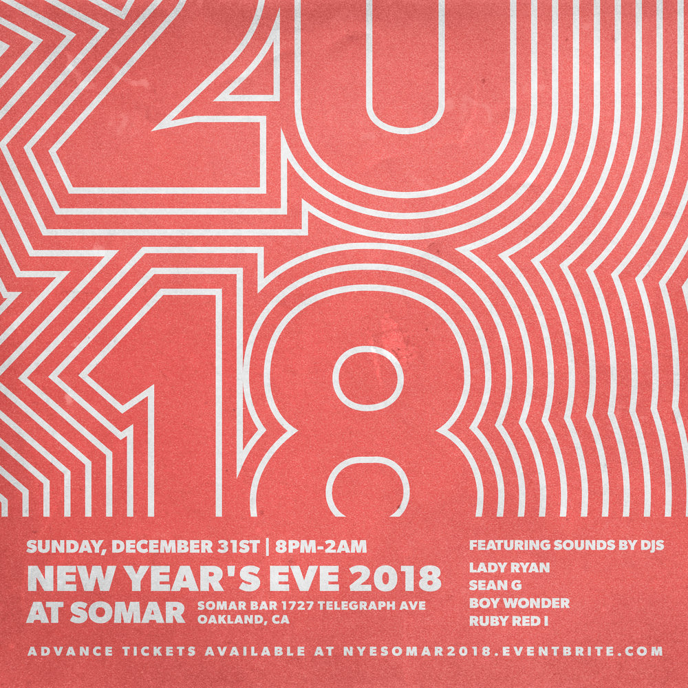 join the somar squad in saying goodbye to 2017 and hello to 2018 with their very own new years eve party
