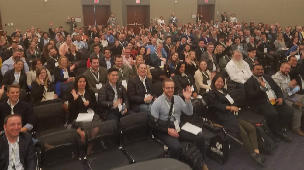 Enthusiastic crowd at Greenbuild 2017