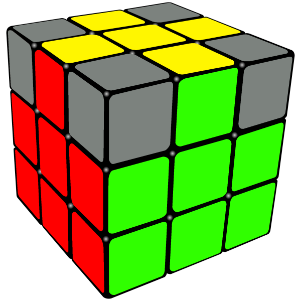 yellow cross permuted correctly on the Rubix Cube
