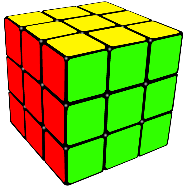A solved Rubix Cube