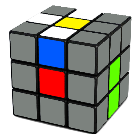 After you done that, you will have one piece of the white cross done.   Repeat for the other 3 white edges to form a complete white cross on the Rubix Cube