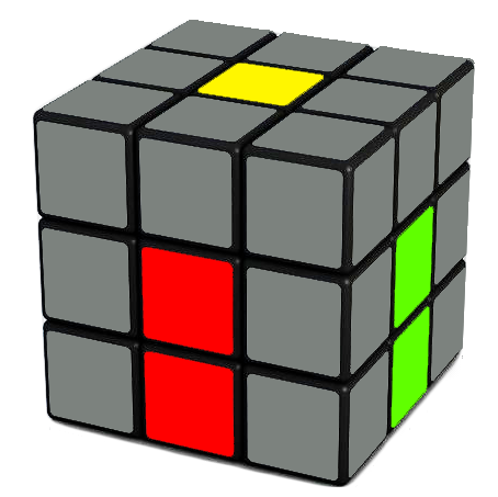 This is how your   Rubix Cube   should look. Turn it around and you will see what was shown at the top of this page.
