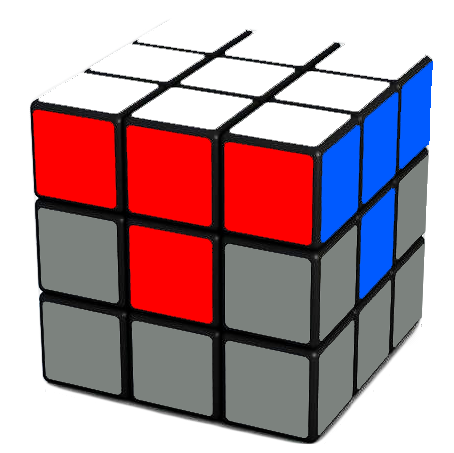 Your goal  - completing the first layer of the Rubik's Cube