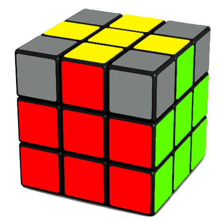 Your Goal  - move the edges such that the sides of the Rubik's Cube are matching as shown above