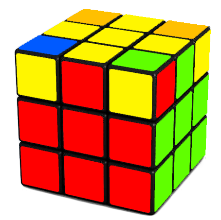 Your Goal  - move the last 4 corners such that they are in the right place on the Rubik's Cube, but not necessary oriented correctly(i.e twisted wrongly)